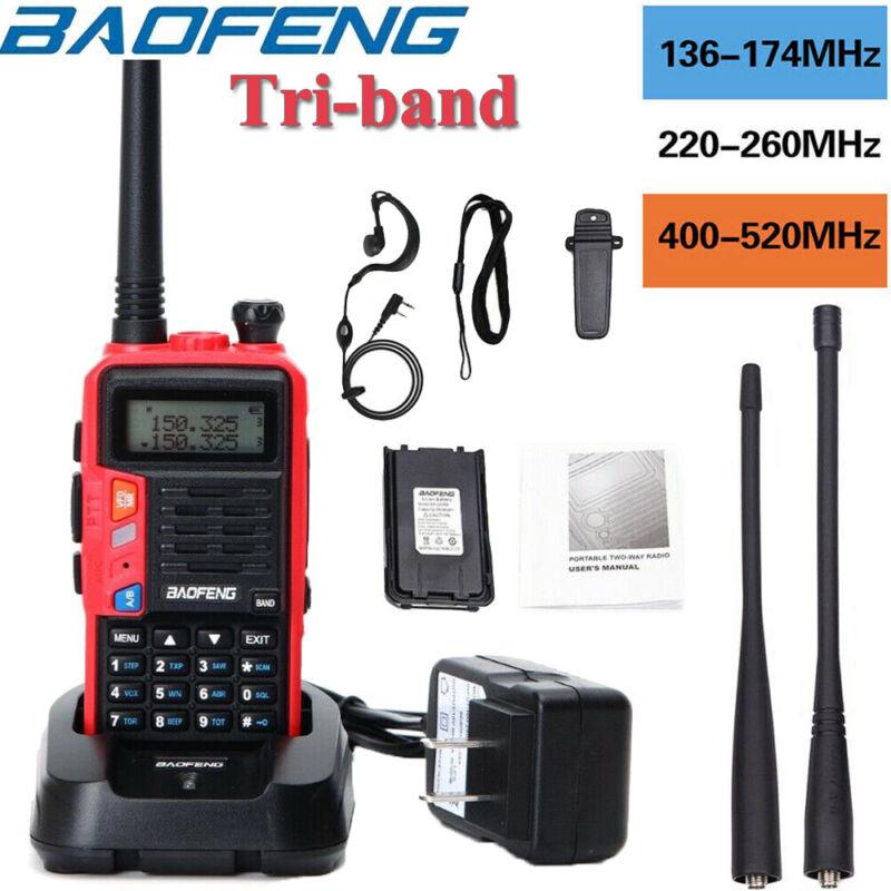 Baofeng UV-S9 Tri-band Walkie Talkie Long Range Two Way Radio+Headset+Battery