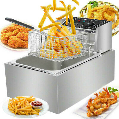 2500w 6l Electric Deep Fryer Commercial Countertop Basket French Fry Home Snack