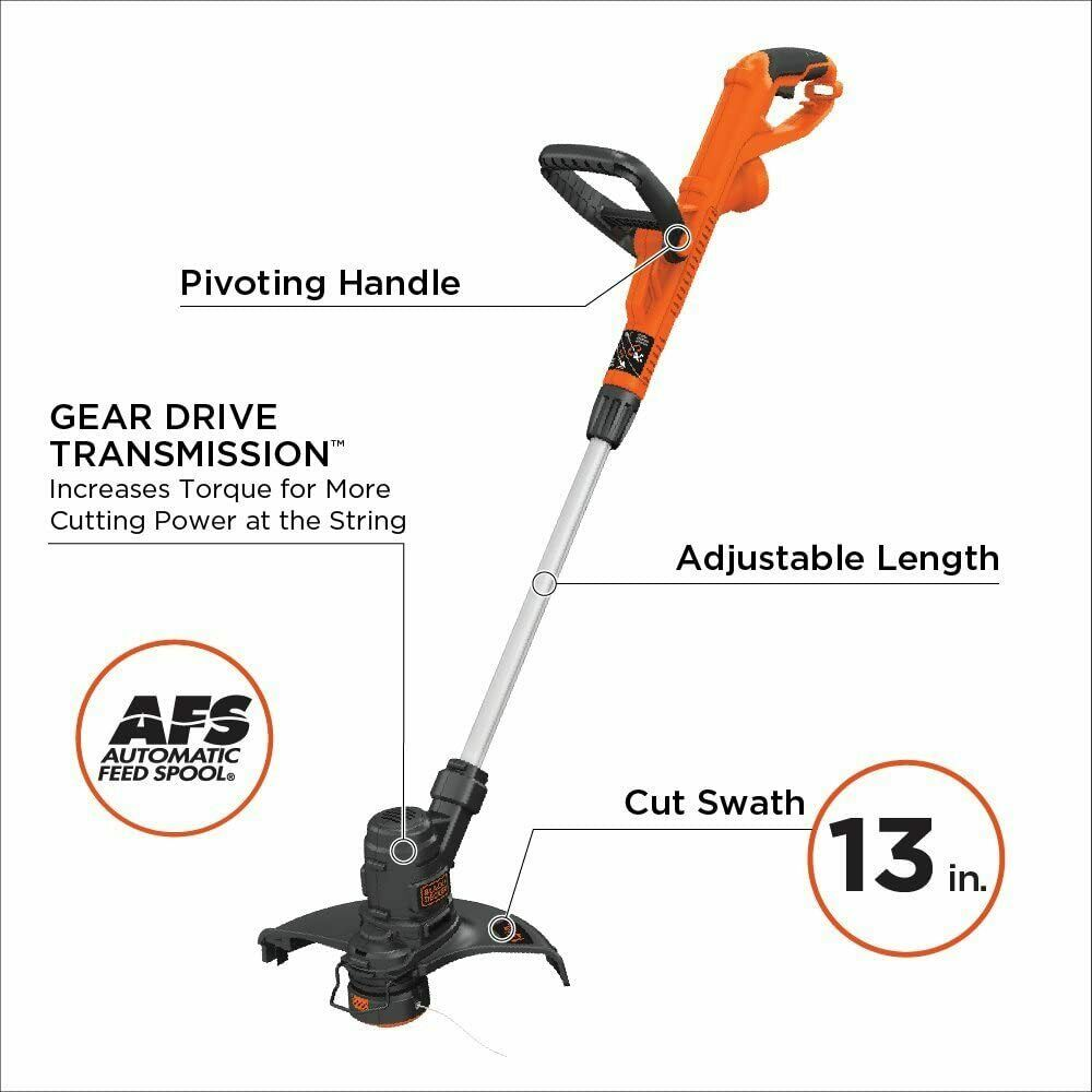 New Black+Decker Corded Electric String Trimmer Weed Eater W