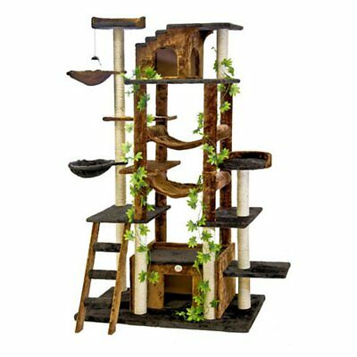 Go Pet Club Cat Tree Furniture 77 in. High - Jungle -, Brown/Black