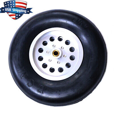 1 Piece 4 inch Solid Rubber Wheels Tires with Alu Hub For RC Airplane US Hub Solid Rubber Wheels