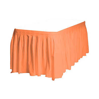 2 Plastic Table Skirts 13' X 29