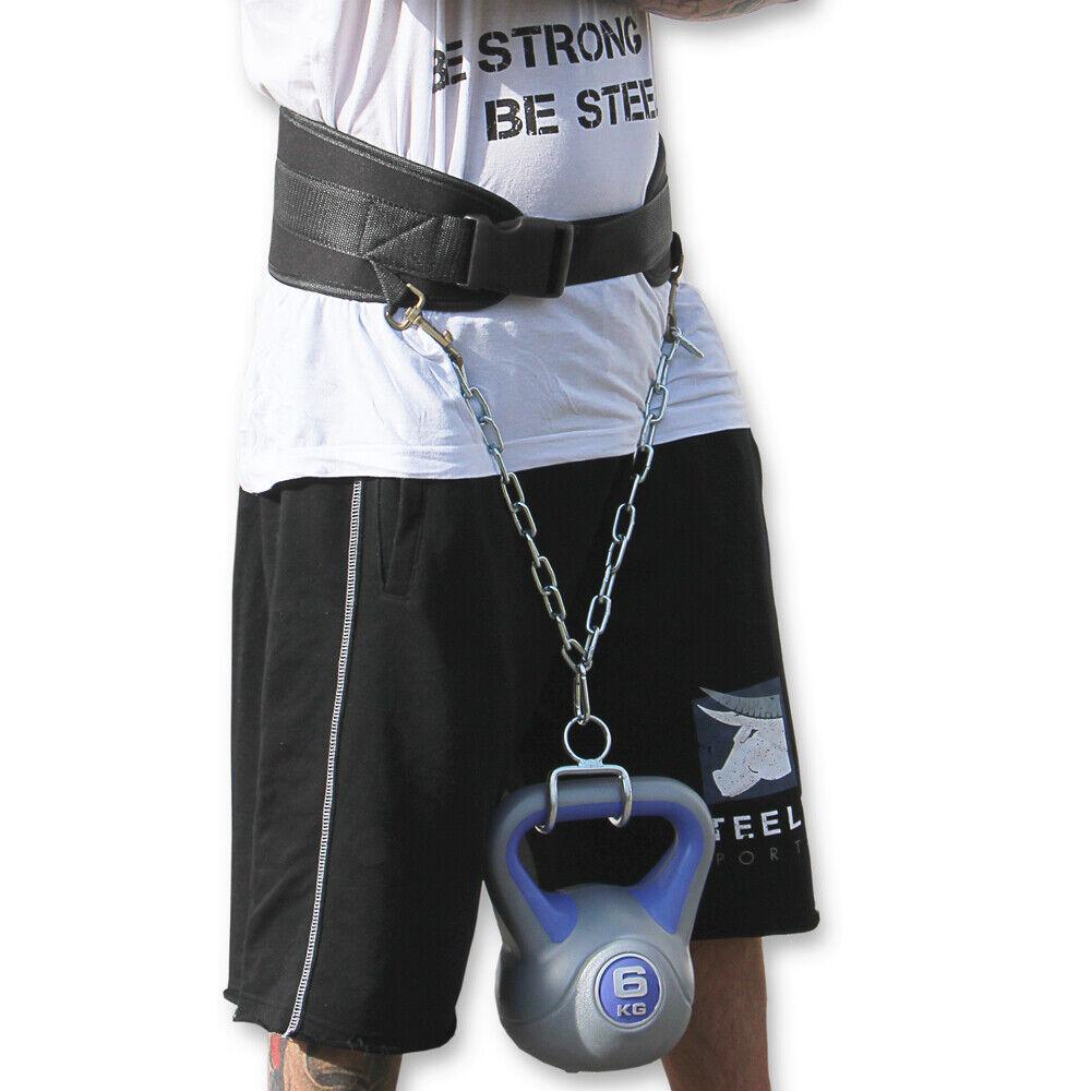Dip Gürtel Bodybuilding - Steely-Sports Gewichthebergürtel f. Dips