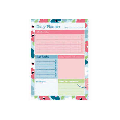 A5 Collins Blossom Daily Desk Pad Planner Contains 60 Sheets Daily View