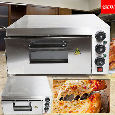 Professional High Efficiency Electric 1 Deck Stone Pizza Oven Kitchen Equipment