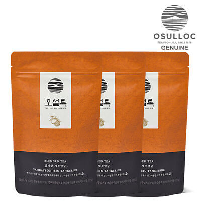 OSULLOC Samdayeon Jeju tangerine 20ea x 3Pouch Pyramid Tea Bags made in KOREA
