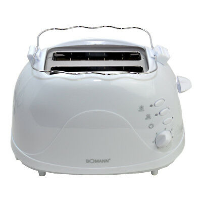 Bomann Toaster TA 246 CB Toastautomat Auftaufunktion, Brötchenaufsatz weiß