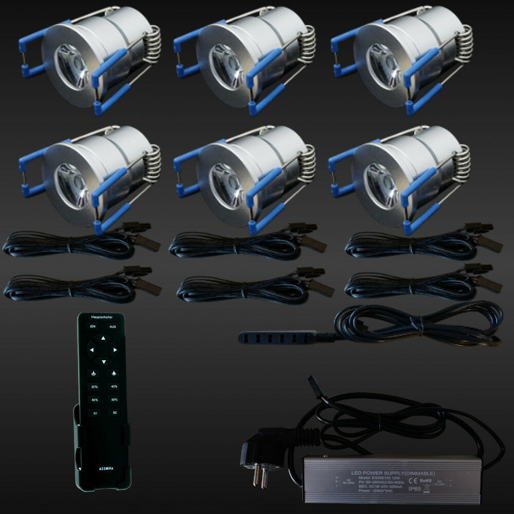 6er-SET LED-TERRASSENBELEUCHTUNG Minispot Terrasse Carport ...