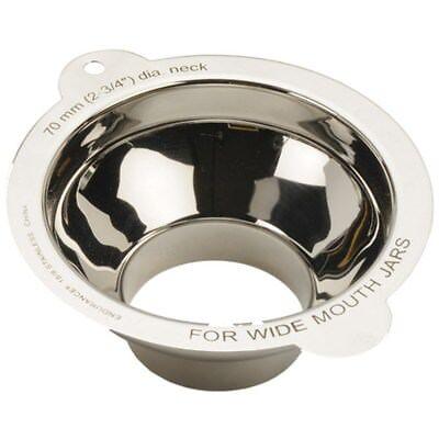RSVP Wide Mouth Canning Funnel Jar Filler Mason Qt/Pt Kitchen Stainless Steel (Mouth Funnel)