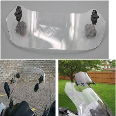 Universal Motorcycle WindScreen Adjustable Windshield Spoiler Air Deflector