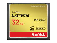 SanDisk Extreme 32GB Compact Flash card