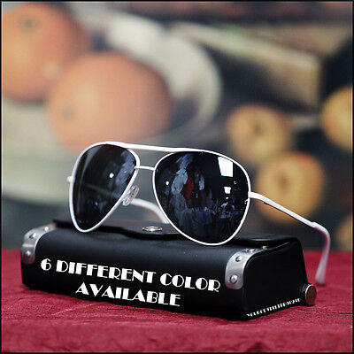 NEW AVIATOR SUNGLASSES PARTY TRAVEL BIKER VINTAGE TREND BLACK LENS 6 COLORS (Aviator Sunglasses Trend)