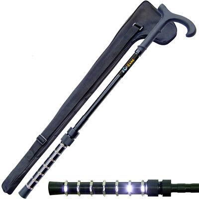 ZAP Walking Cane Stun Gun Rechargeable 1 Million Volt With LED Flashlight & Case