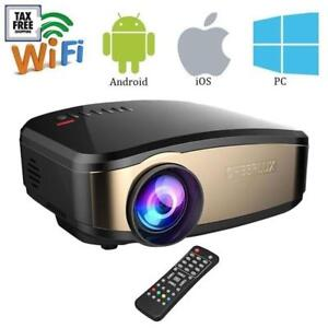 Smart WiFi Projector LED lumens  HIGH Quality LOW Price Projecteur intelligent cinéma maison