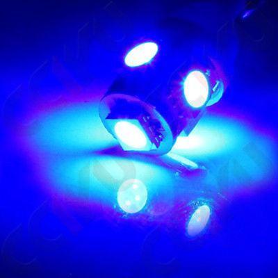 10Pcs T10 Ultra Blue 5050 5SMD LED Wedge Light Bulbs 194 2825 921 168 175 501