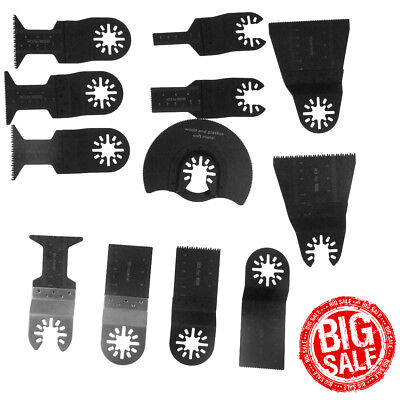 12 X Universal Oscillating Multi Tool Saw Blades Carbon Steel Cutter Diy Quality