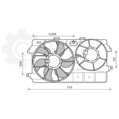 Fan Engine Cooling Radiator Fan Blower Motor Ford Tourneo Connect