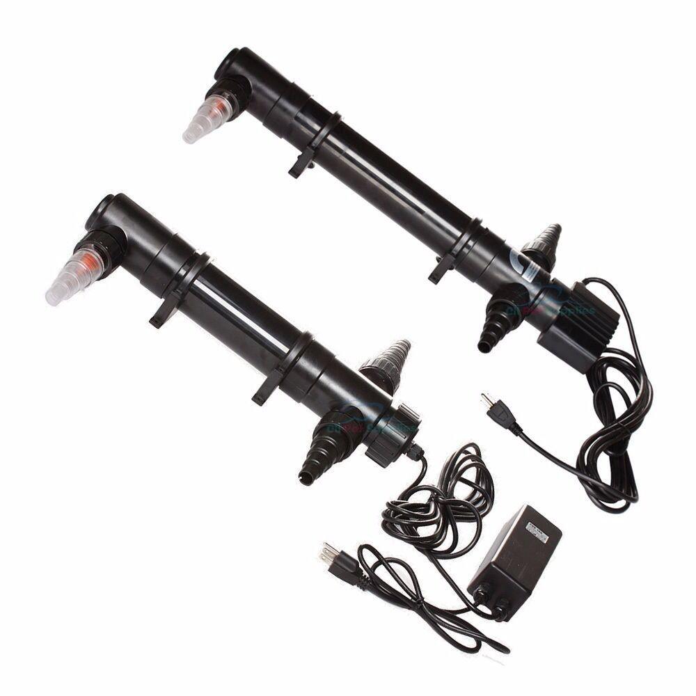 Aquarium UV Sterilizer 9W/18W/36W/55W Light Clarifier Pond T