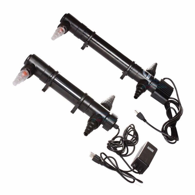 Aquarium UV Sterilizer 9W/18W/36W/55W Light Clarifier Pond Tank Reef Pump Filter