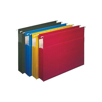 Staples Hanging File Folders 3.5 Expansion Letter Size Assorted 4pk 419192
