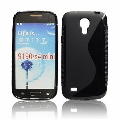 Samsung i9190 i9195 Galaxy S4 Mini - Housse silicone souple de protection NOIR