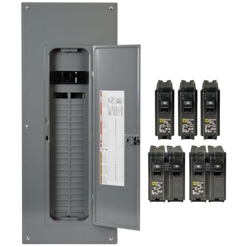 Square D Main Breaker Box Kit 200 Amp 40-Space 80-Circuit Single Phase