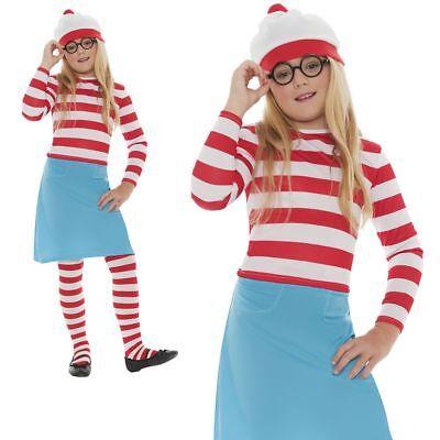 Where's Wally Wenda Female Girls Kids Fancy Dress - Where's Wally Wenda Kostüm