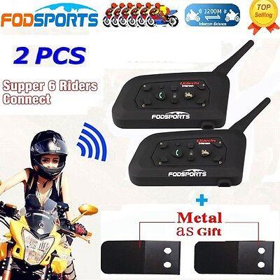 BT 1200m Motorbike Intercom Bluetooth Motorcycle Helmet Headsets interphone x2