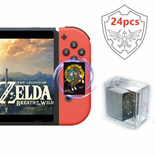 Complete 24 Pieces Zelda Breath of the Wild Amiibo NFC Cards - BOTW Switch WiiU