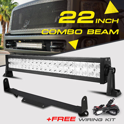 F250 led barebay 1 22 280w cree led light bar lower grille mount bracket for ford f 250 mozeypictures Choice Image