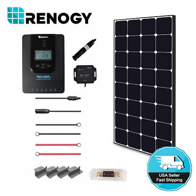 Renogy 100 Watt 12 Volt Off Grid Solar Premium Kit with Ecli