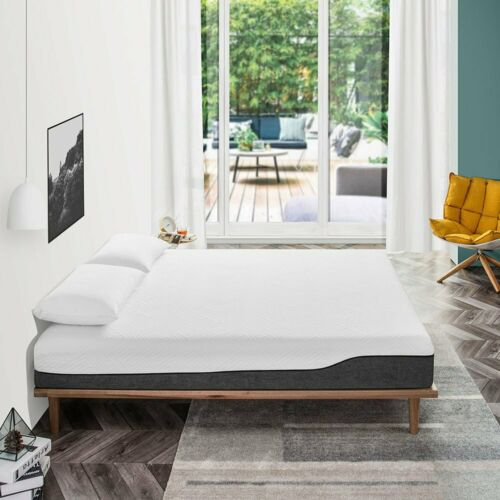 "10"" Gel Memory Foam Mattress KING SIZE Medium Firm Cool US -"