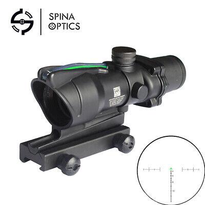 ACOG Style 4X32 Real Fiber Optics Sight Red / Green Illuminated Rifle Scope