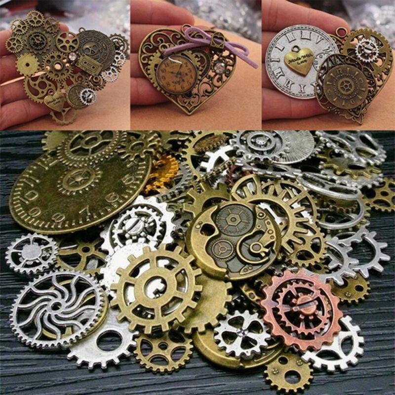 50g Altered Jewelry Findings DIY Art Crafts Gears Steampunk Cyberpunk Cogs