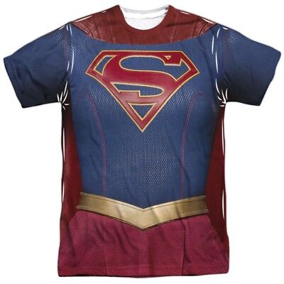 DC Comics Supergirl TV Show Uniform Costume Outfit Allover FRONT T-shirt top - Supergirl White Outfit