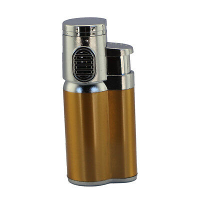 Double Jet Refillable Flame Butane Cigarette Cigar Torch Lighter – Orange