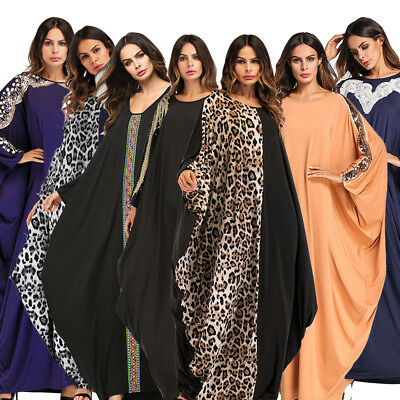 Dubai Muslim Women Loose Abaya Islamic Long Maxi Arab Cocktail Dress Jilbab Robe