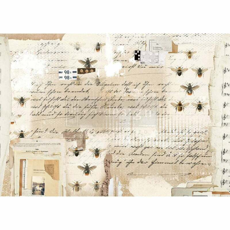 Mysterious Notes Rice Paper by redesign with Prima!