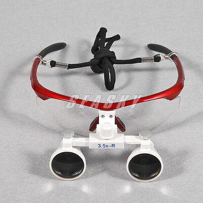 Dental 3.5x Magnifying Medical Surgical Binocular Loupes Glasses Loupe Optical