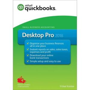New  Intuit QuickBooks Desktop Pro 2018 - English Accounting Software 2018 Condition: New, Open Packaging