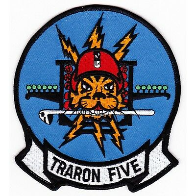 US NAVY VT-5 Air Training Squadron TRARON FIVE Military Patch TIGER