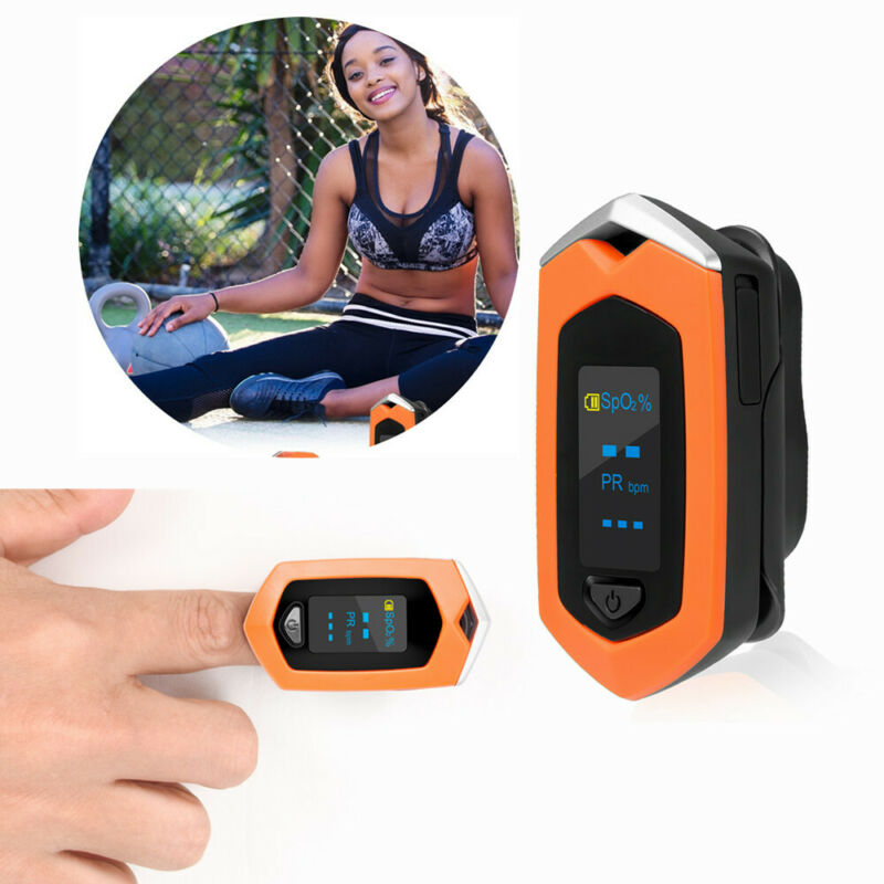 Rechargeable Fingertip Pulse Oximeter Blood Oxygen meter SpO2 Heart Rate Monitor
