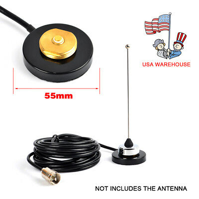 UHF/VHF NMO Mount Magnetic Base For Car Taxi Mobile Radio Antenna RG-58 - Uhf Antenna Mount