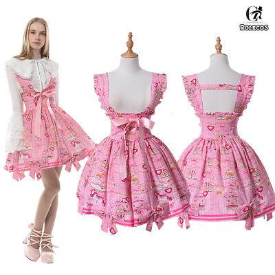 Classic Lolita Skirt (Classic Lolita Dress Merry-go-round Printed Sleeveless Suspender Strap Skirt)