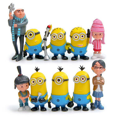 Despicable Me Minions Gru Agnes Edith Margo 10 PCS Action Figure Kid Gift Toy US