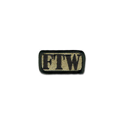 Tactical Combat Morale Patch Hook and Loop Badge Fastener by BASTION - FTW ACU