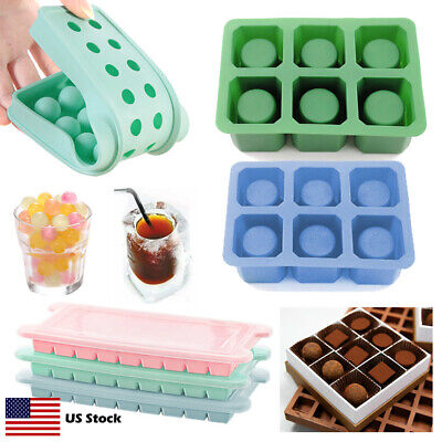 Silicone Ice Cube Ball Shot Glass Mold Chocolate Candy Candle Jello Tray W/ Lid](Jell-o Shot)