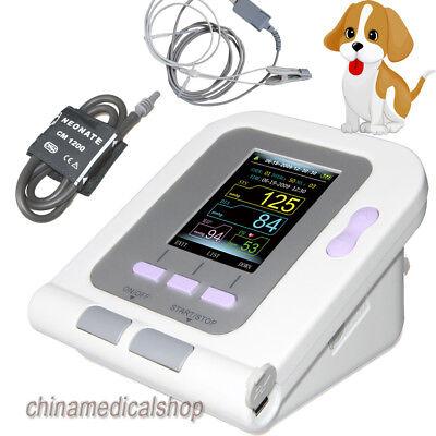 Veterinary Digital Blood Pressure Monitor Tongue Clip Spo2 Probe Pr Catdogpets