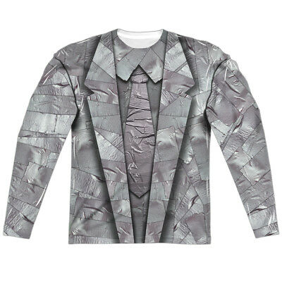 DUCT TAPE SUIT Print 2-Sided Men's L/S T-Shirt Easy Halloween Costume S-3XL (Duct Tape Halloween Costumes)