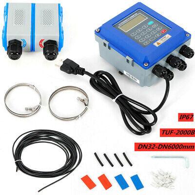 Ultrasonic Flow Meter Wtransducers Digital Wall Mounted Liquid Flowmeter Tester